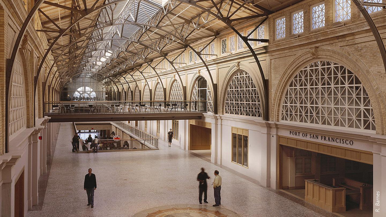 Ferry Building rehabilitated interior